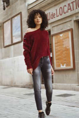 Power skinny 7/8ème jeans gris N°1