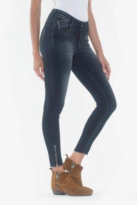Jeans pulp slim taille haute Skye 7/8ème bleu-noir N°1