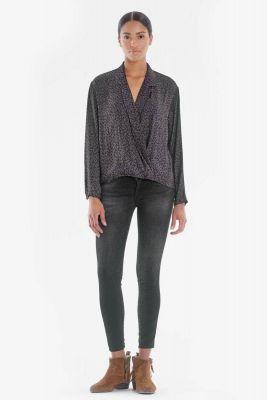 Uzo ultra power skinny 7/8ème jeans noir N°1