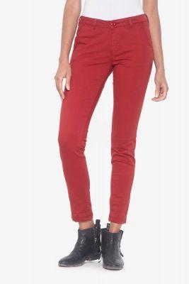 Pantalon chino Lidy rouge