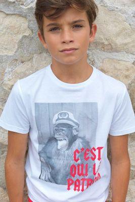 T-shirt Torabo blanc imprimé