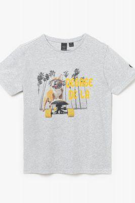 Grey printed Wakullabo t-shirt