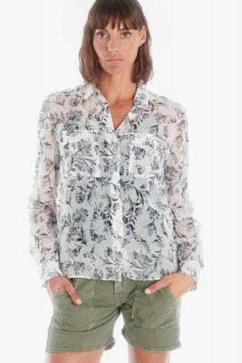 Chemise Abou blanche à motif floral