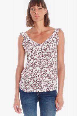 White floral pattern Aleksa top