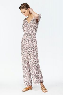 White floral pattern Galice jumpsuit