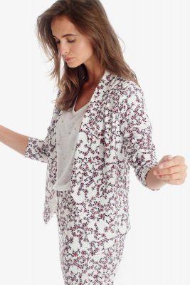 Veste Goya blanche à motif floral