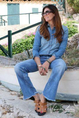 Chemise en jeans Josy bleue by Véronika Loubry