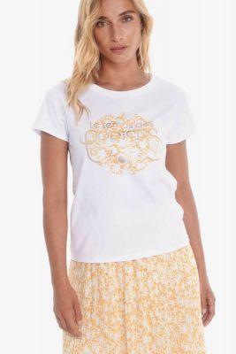 T-shirt Robben blanc