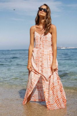 Robe longue Tildabis corail