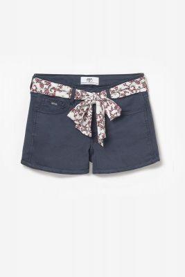 Short Col3 en jeans bleu marine