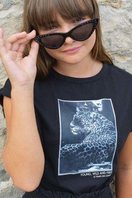Black Hellogi printed t-shirt