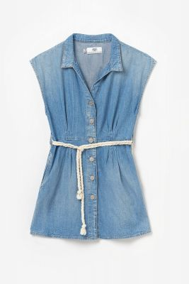 Robe en jeans Partman bleue