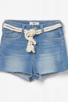 Stonewashed blue Tiki high waisted shorts
