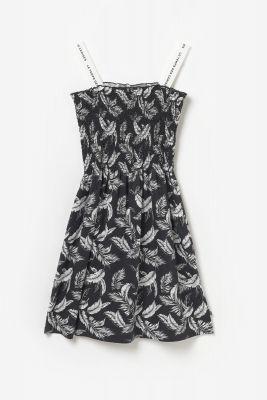 Black Tildagi dress will leaf pattern