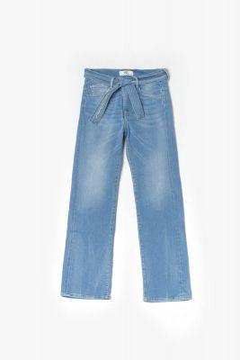 Jeans large Wave taille haute 7/8ème bleu N°5