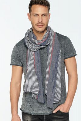 Blue striped Comal scarf
