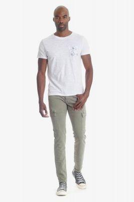 T- shirt Pilas blanc détail floral