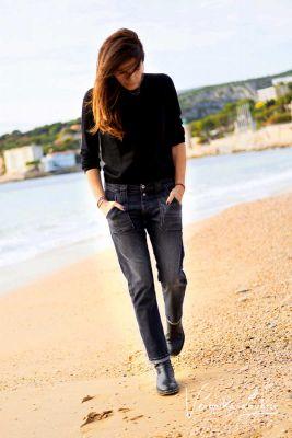 Rock 200/43 boyfit by Véronika Loubry jeans gris N°1