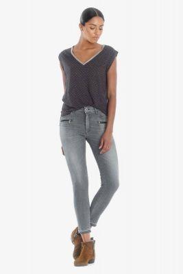 Dado pulp slim taille haute 7/8 ème jeans gris N°3
