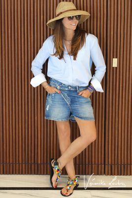 Short Suzy en jeans bleu by Véronika Loubry