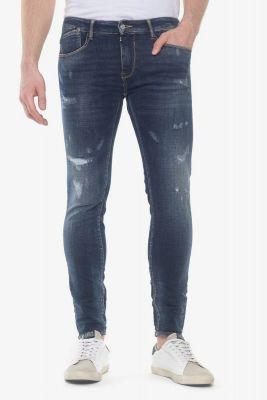Power skinny 7/8ème jeans destroy bleu N°1