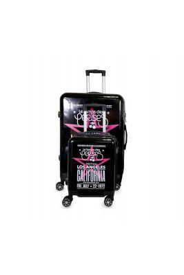 Set de 2 valises Sia noires extensibles