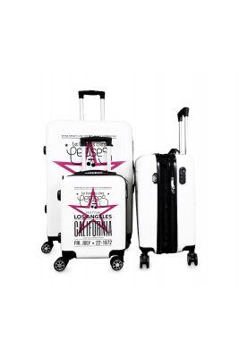 Set de 3 valises Sia blanches extensibles