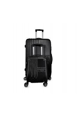 Set de 2 valises Victoria noires extensibles