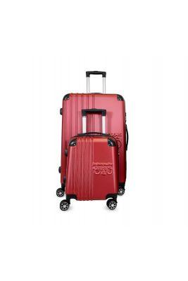 Set de 2 valises Victoria rouges extensibles
