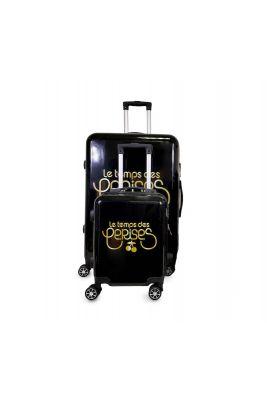 Set de 2 valises Yna noires extensibles