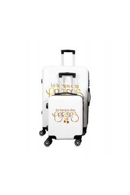 Set de 2 valises Yna blanches extensibles