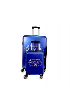 Set de 2 valises Yna bleues extensibles