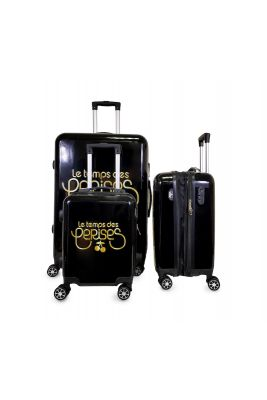 Set de 3 valises Yna noires extensibles