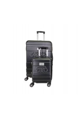 Set de 2 valises Lyra noires extensibles