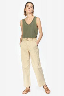 Pantalon chino taille haute Serena beige