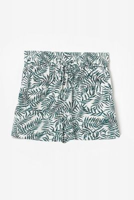 Short à motif floral Mineogi vert