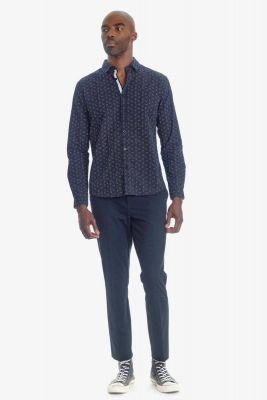Pantalon Steny bleu-noir