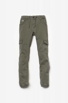 Pantalon Tobati tapered arqué kaki