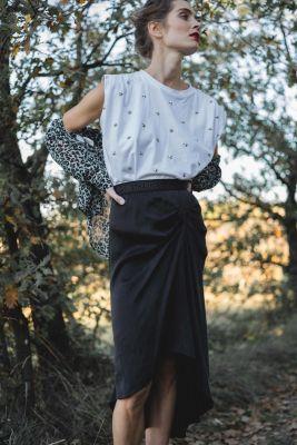 T-shirt Larm blanc à étoiles