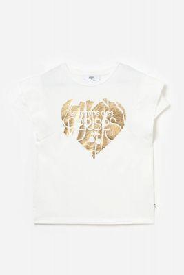 T-shirt Graciegi blanc imprimé