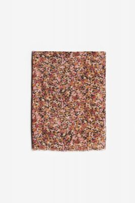 Foulard Musegi à motif fleuri rose