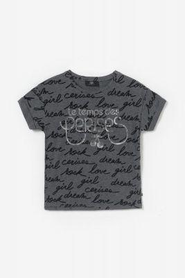 T-shirt Nikagi gris imprimé
