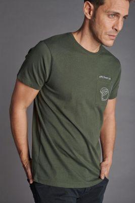 T-shirt Mitro kaki brodé