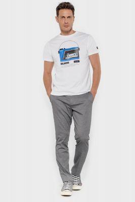 T-shirt Trent blanc imprimé