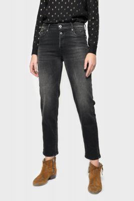 Basic 400/18 mom taille haute jeans noir N°1