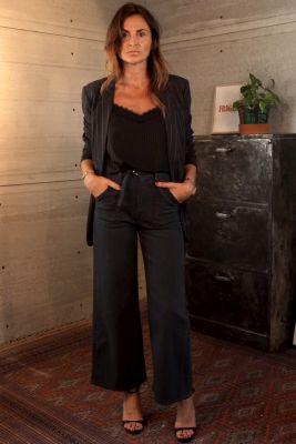 Celou droit taille haute jeans anthracite