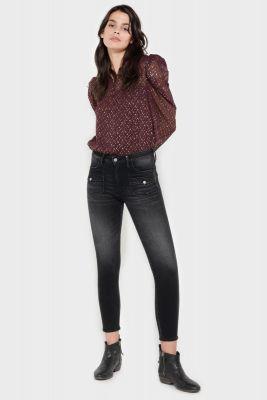 Fano pulp slim taille haute 7/8ème jeans noir N°1