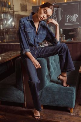 Flare jeans bleu N°1