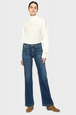 Flare pulp taille haute jeans bleu N°1