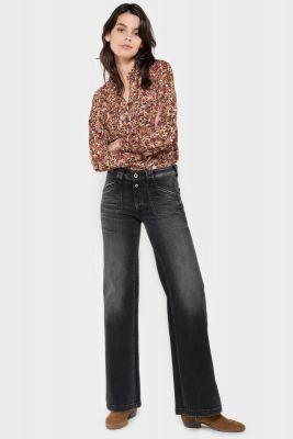 Lifi flare pulp taille haute jeans noir N°1